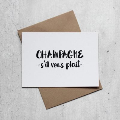 Kaart champagne gerecycled papier