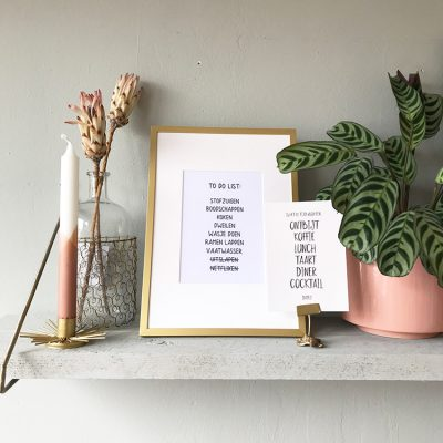 Mini poster 'to do list' op plank